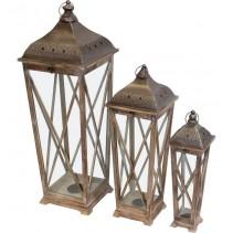 Lampion Drewniany Kpl.